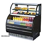 Turbo Air TOM-W-40SB Open Display Merchandiser with Refrigerated Top Shelf Combination Case