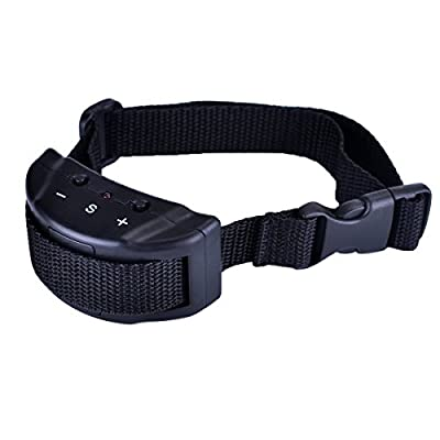 Vastar AD999 Dog No Bark Collar Electric Anti Bark Shock Control with 7 Levels Button Adjustable Sensitivity Control, Stimulation of No Harm Warning Beep and Shock for 15-120 lb Dogs by Vastar