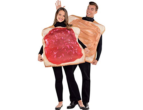 Amscan Adult Peanut Butter & Jelly Costume Classic