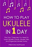 download ebook how to play ukulele: in 1 day - the only 7 exercises you need to learn ukulele chords, ukulele tabs and fingerstyle ukulele today (music best seller) (volume 4) pdf epub