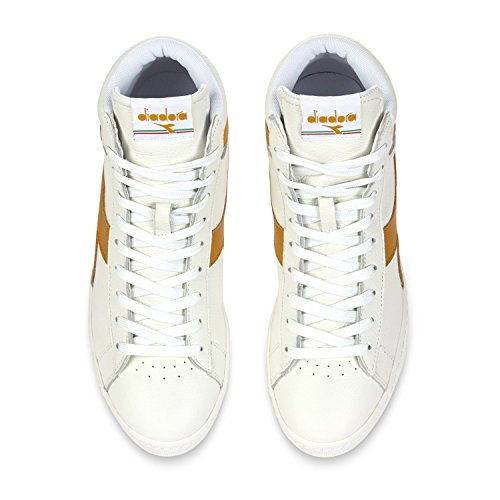 Adulto Low Bianco Unisex Waxed Beige Scarpe L Low Diadora Top Game qU1p7pwR