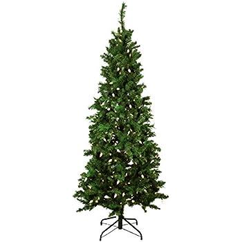 7 5 Foot Pre Lit Slim Christmas Tree