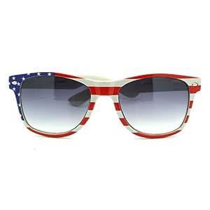 MJ Boutique's Patriotic American Flag Wayfarer Style Sunglasses