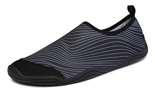 006 Garden (WaltZon Men and Women's Quick-Dry Water Beach Sports Shoes With Drainage Holes For Swim Walking Yoga Lake Garden Park Driving Boating(WZ6363-006-Black36))