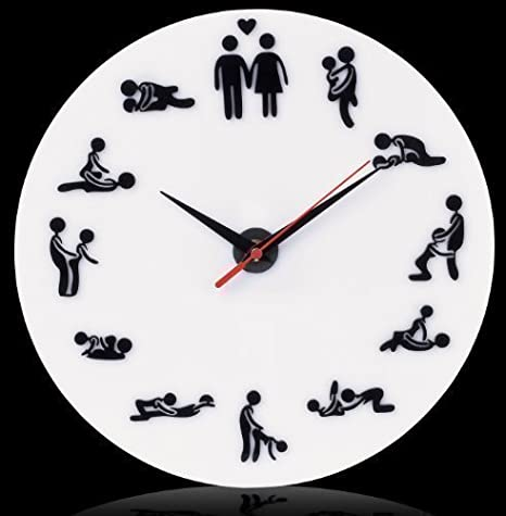 Venkon - Reloj de pared con diseño de kamasutraCon increíbles posturas sexuales: Amazon.es: Hogar