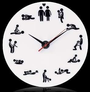 Venkon - Reloj de pared con diseño de kamasutraCon increíbles posturas sexuales