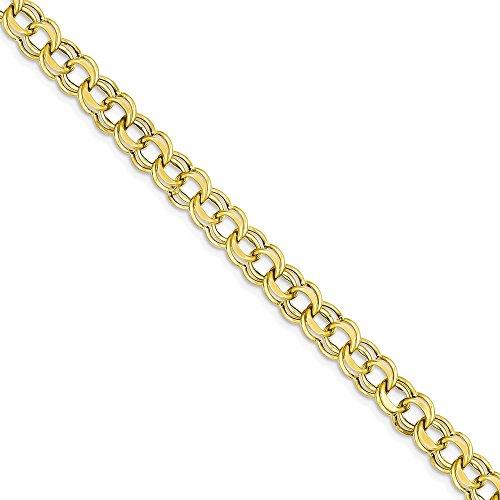 Icecarats Créatrice De Bijoux 14K Lite 5,5 Mm À Double Charme De Lien Bracelet En 8 Pouces