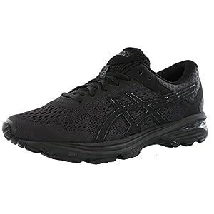 ASICS Men's GT-1000 6 Running-Shoes, Black/Black/Silver, 10.5 Medium US