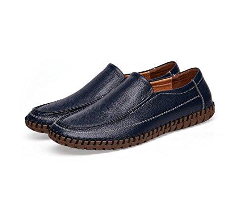 zmlsc Robe Chaussures Hommes Occasionnels Ronde Doux Point Point Sangle Saison Antidérapante Randonnée Plage Cachemire Couleur Sports Blue sixl7vK