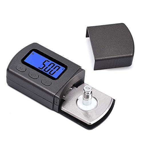 Professional Turntable Stylus Force Scale Gauge 0.01g LP Stylus Gauge with LCD Backlight, Tracking Force Pressure Gauge/Scale for Tonearm Phono Cartridge Black