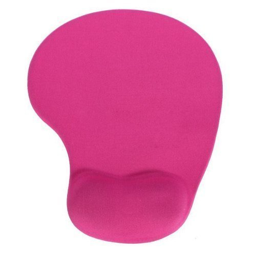 Dfunlife Silicone Colour Comfort Wrist Rest Mouse Pad (Hot Pink)