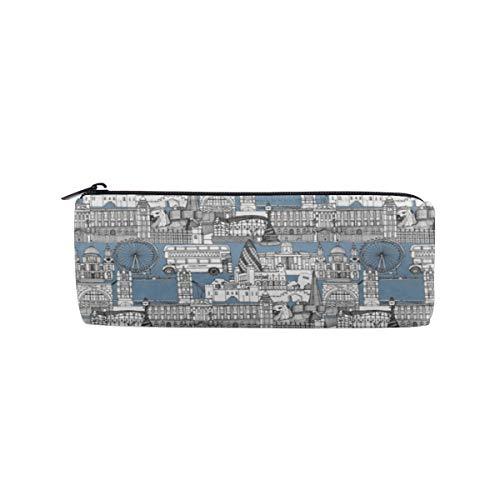 London Calke Abbey Blue Toile Pencil Case Pouch Teacher Gift Gadget Bag Make Up Case Cosmetic Bag