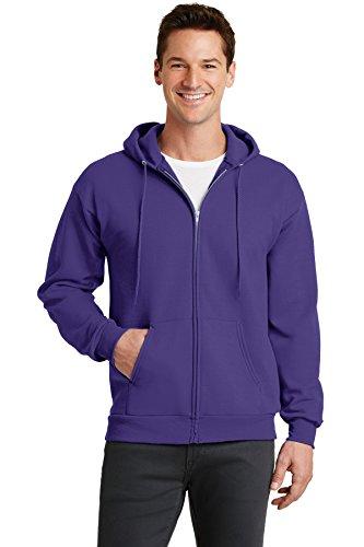 Port & Company - Core Fleece Full-Zip Hooded Sweatshirt. PC78ZH Purple 2XL