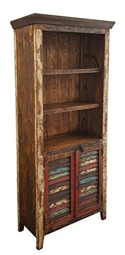 Rustics For Less LC-LIB-01 Cabana Bookcase, Multicolor Review