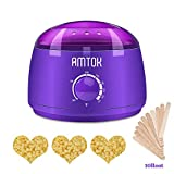 Wax Warmer,AMTOK Hair Removal Waxing Kit Electric Pot Heater for Rapid Waxing of All Body, Face, Bikini Area, Legs for Women and Men with 3 Hard Wax Beans and 10 Wax Applicator Sticks