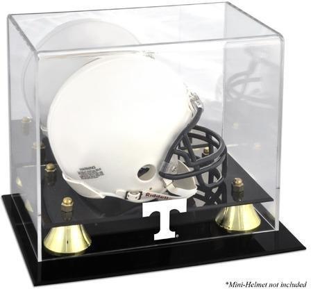 Tennessee Freiwilligen Golden Classic Logo Mini-Helm DISPLAY Fall durch montiert Erinnerungen