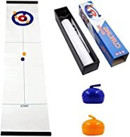 MorTime Table Top Curling Game for Family, Adults and Kids Team Board Game,Easy to Set-Up and So Compact for S