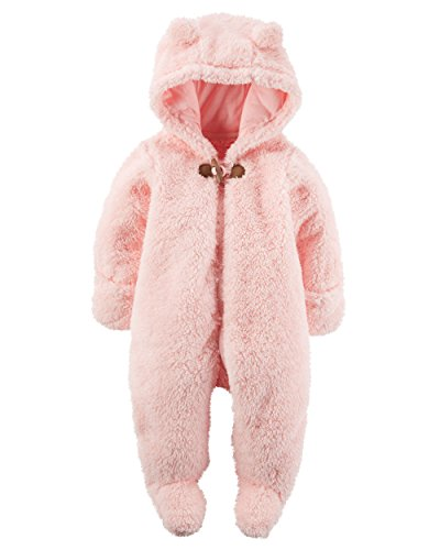 william-carter-baby-girls-hooded-fleece-jumpsuit-pink-sherpa-bunting-9m