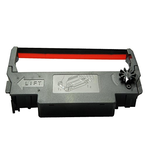 60PCS Ink Ribbon Gorilla Supply ERC 30 34 38 B/R Compatible For Epson ERC38 NK506 (60-PK, Black Red)