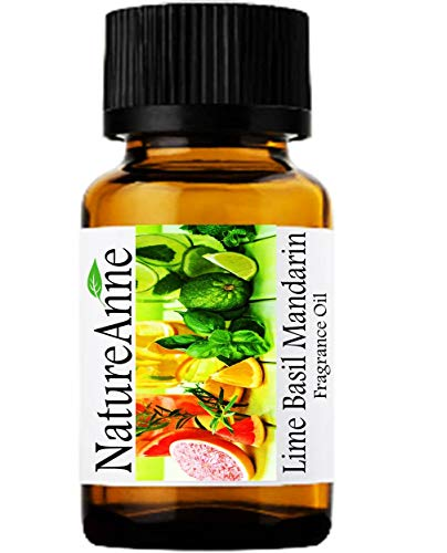 (Lime Basil Mandarin (Type) Premium Grade Fragrance Oil - 10ml - Scented Oil - for Diffuser Oils, Making Soap, Candles, Lotion, Home Scents, Linen Spray, Lotion, Perfume, Beard Oil,)