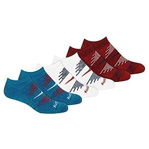 Saucony Men's Multi-Pack Firework Ventilating Performance Comfort No-Show Socks