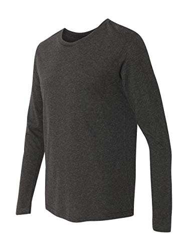 - Next Level Men's Performance Blended Long Sleeve Jersey, Large, Vintage Black