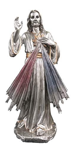Woodington's Divine Mercy Pewter 12 Inch Statue