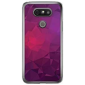 Loud Universe LG G5 Geometrical Printing Files A Geo 22 Printed Transparent Edge Case - Purple