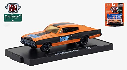 18 1966 Dodge Charger - M2 Machines 1966 Dodge Charger HEMI (NOS Sniper) Auto-Drivers Release 54 - Castline 2018 Special Edition 1:64 Scale Die-Cast Vehicle & Custom Display Base(R54 18-28)