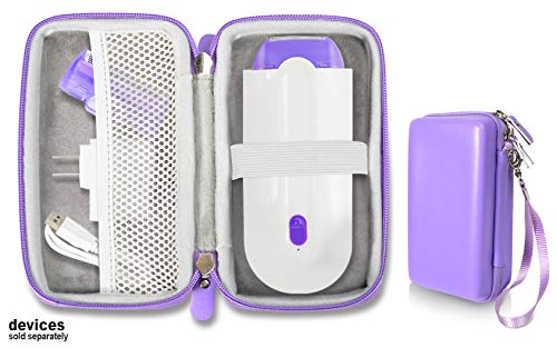 Purple Hair Remover case by Alltravel for Finishing Touch Yes Hair Remover, mesh Accessory Pocket, Easy to go Wrist Strap (Sensa Light Hair Removal)