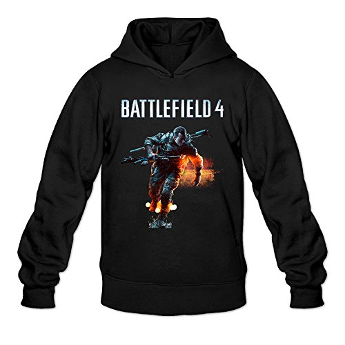 Price comparison product image AK79 Men's Hoodie Battlefield Game Poster Size L Black
