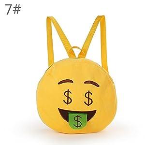 amazon com baby girls boys emoji plush backpack zerowin yellow soft