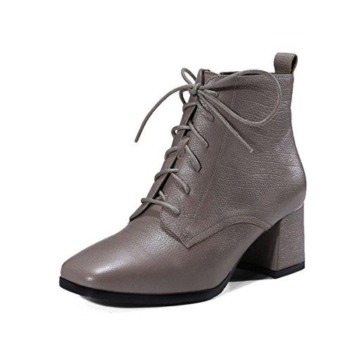 Plano Zapatos Cortas Mujer Con Moda Martin Corto Fondo Zapatillas Mujeres Desnudas Botas Sandalias De Gruesas Correa Gray Y Cilindro g8qvxIxRw