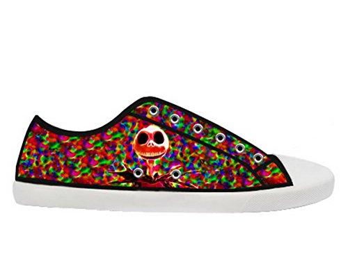 The Nightmare Before Christmas Logo Ladys Halkfria Tygskor Tnbc Canvas Shoes13