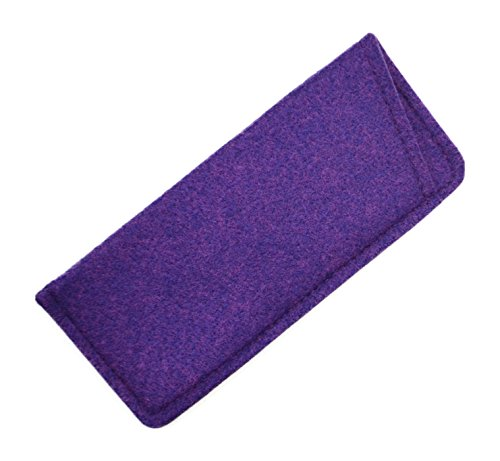 Soft Felt Durable & Lightweight Eyeglass Slip-In Case in Purple Amethyst