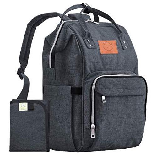 Diaper Bag Backpack – Large Waterproof Travel Baby Bags (Mystic Gray)