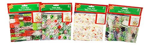 Christmas Holiday Gift Basket Bags Bundle (Set of 4 Bags)