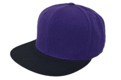 Top of the World Blank Purple/Black Cap Hat Snapback Osfm NWT