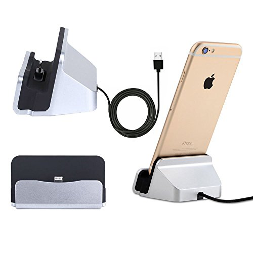 okaccessories iPhone Charger Dock,Desktop Charger Station,Charging Stand Cradle Lightning Magneti Dock Base Fast Charging for iPhone X 8 7 7 Plus 6 6S (Desktop Sync Cradle)