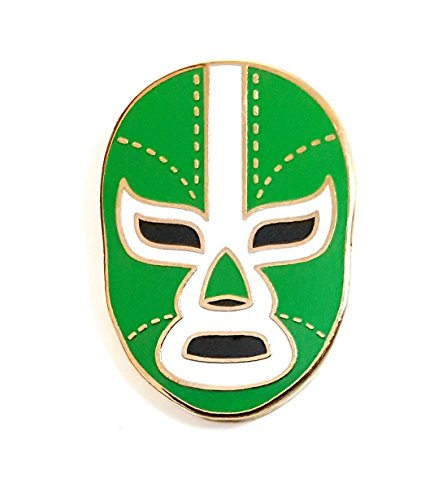 Pinsanity Mexican Wrestling Mask Enamel Lapel Pin