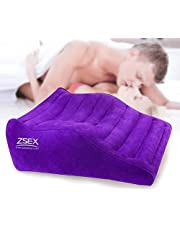 Deeper Position Support S&éx Pillow Cushion Inflatable Bed Love Aid Furniture Cushion for Adúlt Deeper Love Position Sofa Support Flocking Bed for Couples(Purple)