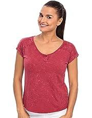 Mavi Cotton Round Neck T-Shirt For Women