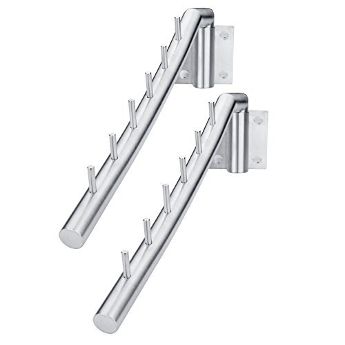 Deekec SUS 304 Stainless Steel Clothes Hanger with Swing Arm