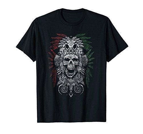Aztec King Mexican Skull Mask & T Shirt Design (Shirt Mens Aztec)