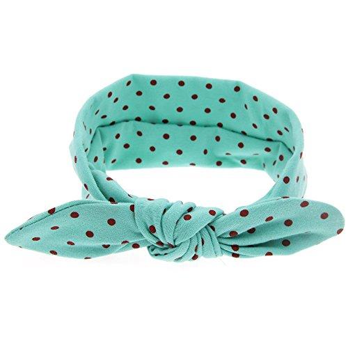 Polka Dot Rabbit Earband Baby Elastic Bow Headband Cross Knotted Headband -