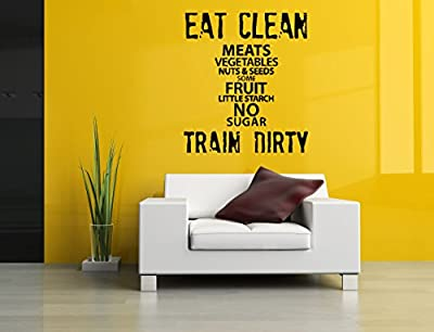Wall Vinyl Sticker Decal Decor Vintage Retro Quote Word Crossfit Bodybuilding Fitness Empire Center Sport Gym Fit Powerlifting Barbell Dumbbell Gymnastics Poster Art SA908
