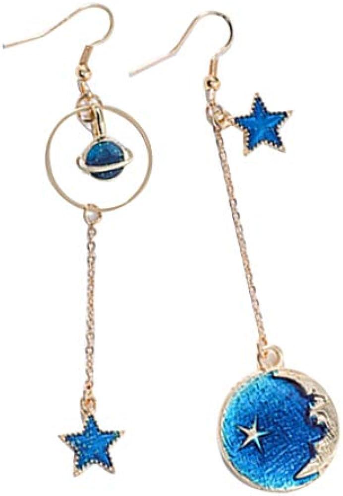 Pearl Earrings Simple Earrings Fantasy Earrings Blue Earrings Pendant Earrings