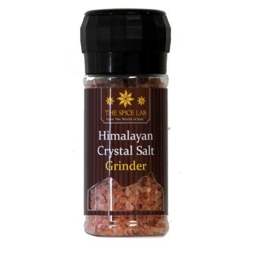 The Spice Lab Himalayan Pink Salt - Coarse Gourmet Pure Crystal - Nutrient and Mineral Dense for Health - Kosher and Natural Certified Food Grade - 1 Pound Grinder by The Spice Lab
