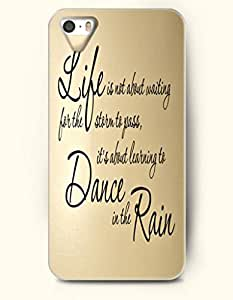 OOFIT iPhone 4/4s Case Life Is Not About Waiting For The Strorm To Pass,It'S About Learning To Dance In The Rain
