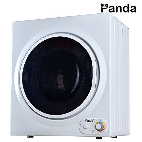 Panda 3.75 cu.ft Compact Laundry Dryer, White and Black
